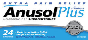 ANUSOL PLUS SUPP 24'S - Queensborough Community Pharmacy