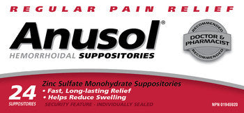 ANUSOL SUPP 24'S - Queensborough Community Pharmacy