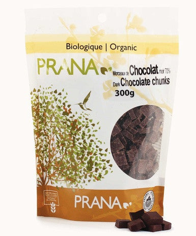 Prana Organic Dark Chocolate Chunks 300gr - Queensborough Community Pharmacy