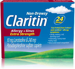 CLARITIN ALLERGY / SINUS TAB EXTRA STRENGTH 15'S - Queensborough Community Pharmacy