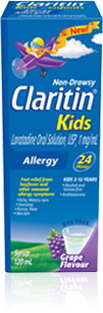 CLARITIN KIDS SYRUP GRAPE 120ML - Queensborough Community Pharmacy