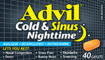 ADVIL COLD & SINUS NIGHTTIME 40'S - Queensborough Community Pharmacy