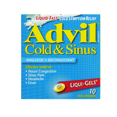 ADVIL COLD & SINUS LIQUI-GELS 10'S - Queensborough Community Pharmacy