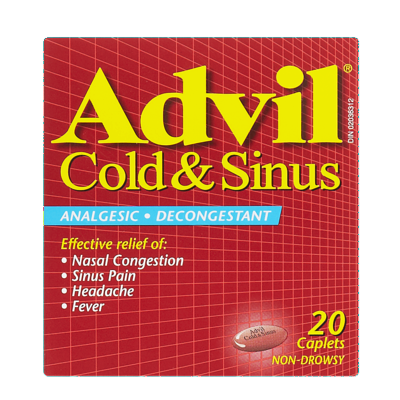 ADVIL COLD & SINUS CPLT 20'S - Queensborough Community Pharmacy