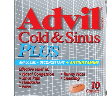 ADVIL COLD & SINUS PLUS 10'S - Queensborough Community Pharmacy