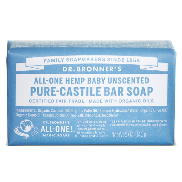 DR BRONNER'S Org Baby Uncensored Bar Soap 140g - Queensborough Community Pharmacy