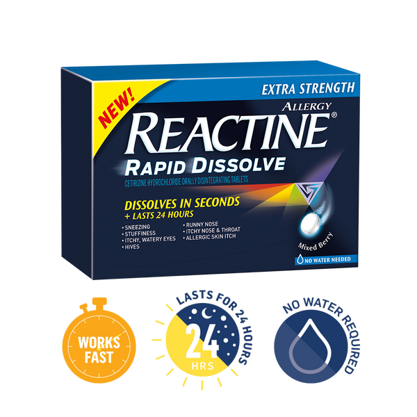 REACTINE EXTRA STRENGTH RAPID DISSOLVE 24'S