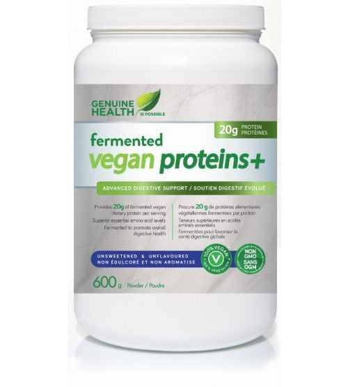 Fermented Vegan Proteins+ Unsweetened 600g - Queensborough Community Pharmacy