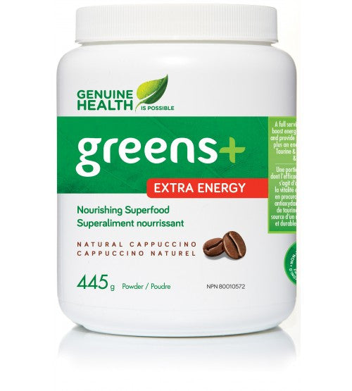 Greens+ Cappuccino Extra Energy Powder 445g - Queensborough Community Pharmacy