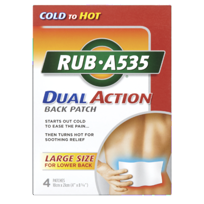 ANTIPHLOG RUB A535 ACT BACK PATCH 4'S - Queensborough Community Pharmacy