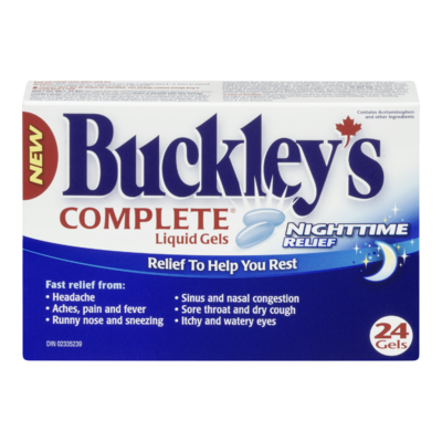 BUCKLEY'S CMPLT LIQUID GELS NIGHT TIME 24'S