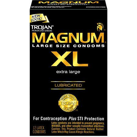 TROJAN MAGNUM CONDOM XL 12'S - Queensborough Community Pharmacy