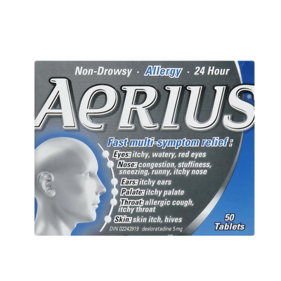 AERIUS TABS 5MG 50'S - Queensborough Community Pharmacy