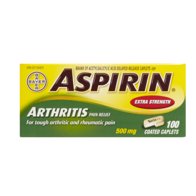 ASPIRIN COATED 500MG 100'S - Queensborough Community Pharmacy