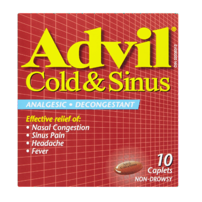 ADVIL COLD & SINUS CPLT 10'S - Queensborough Community Pharmacy