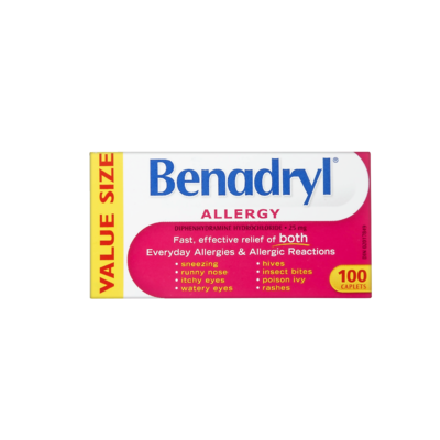 BENADRYL ALLERGY 25MG CPLT 100'S - Queensborough Community Pharmacy