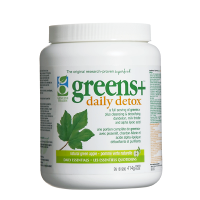 Greens+ Daily Detox Green Apple  Powder  414g - Queensborough Community Pharmacy