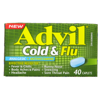 ADVIL COLD & FLU CAPLETS 40'S - Queensborough Community Pharmacy