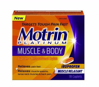 MOTRIN PLATINUM MUSCLE & BODY 18'S - Queensborough Community Pharmacy