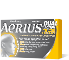 AERIUS DUAL ACTION 12 HOUR 10'S - Queensborough Community Pharmacy
