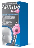 AERIUS KIDS ALLERGY BUBBLE GUM N-D 100ML - Queensborough Community Pharmacy