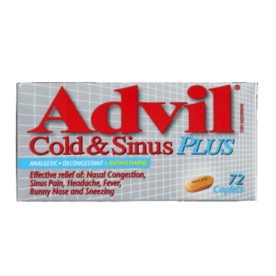 ADVIL COLD & SINUS PLUS 72'S - Queensborough Community Pharmacy