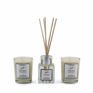 vibrance votive & reed diffuser gift set