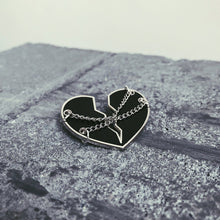 Load image into Gallery viewer, 'Heart in Chains' Hard Enamel Pin