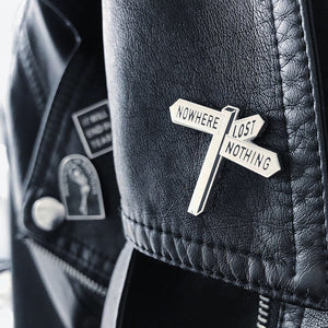 'Nowhere, Nothing' Hard Enamel Pin