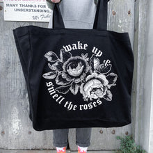 Load image into Gallery viewer, 'Smell the Roses' Tote Bag