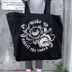 'Smell the Roses' Tote Bag