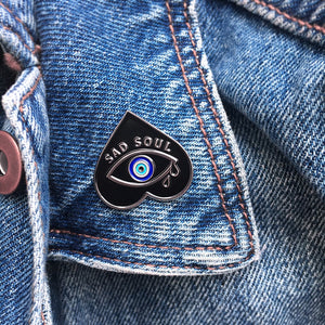 'Sad Soul' Enamel Pin