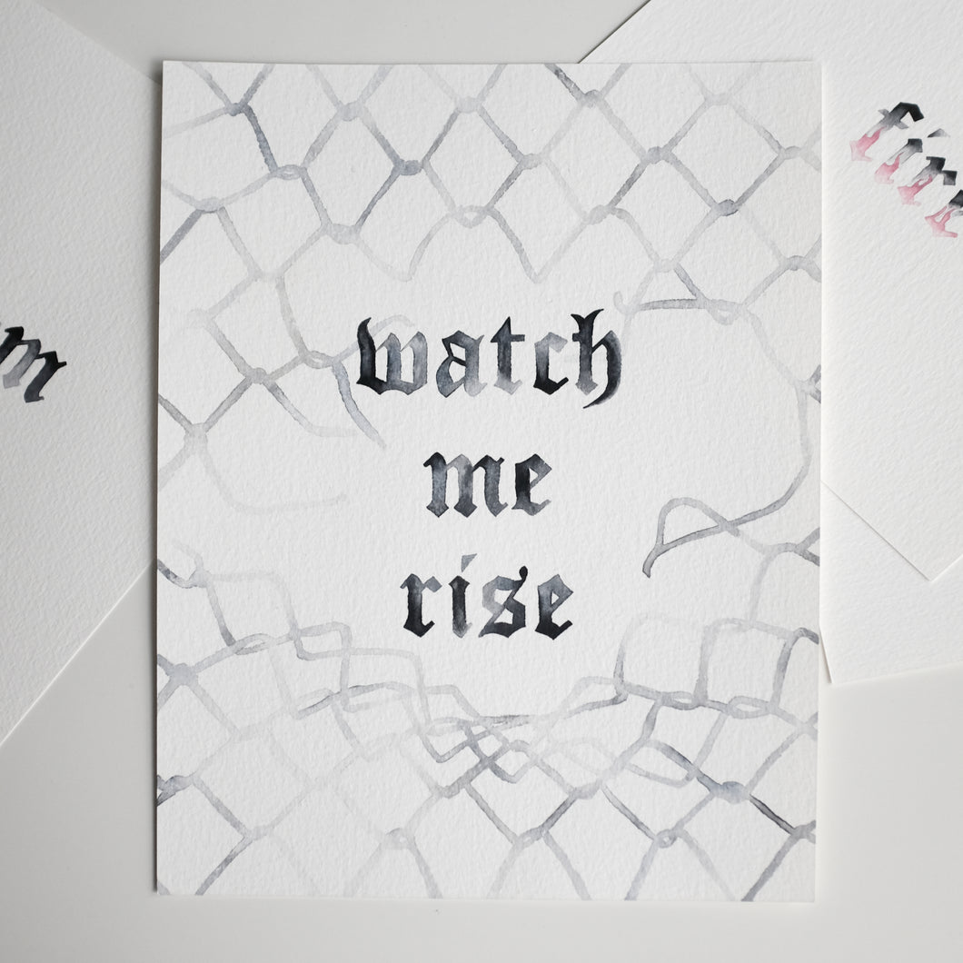 'Watch me Rise' Original A4 Painting