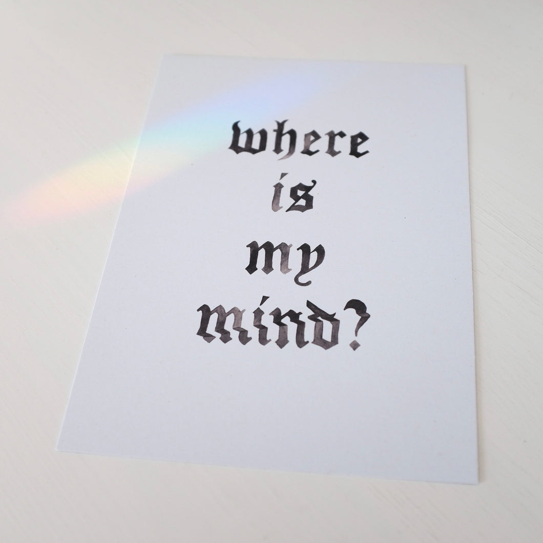 A5 Where is my Mind? Print