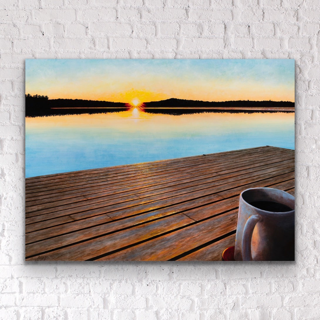 """Coffee on the Dock"" 24x32"""