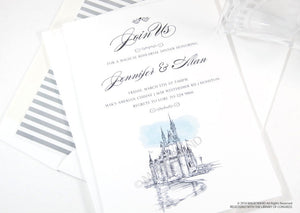 Disney World Castle Rehearsal Dinner Invitations, Fairytale Weddings (set of 25 cards)