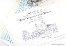 Load image into Gallery viewer, Raleigh Wedding Save the Date Cards, Save the Dates, North Carolina Wedding, Hand Drawn (set of 25 cards)