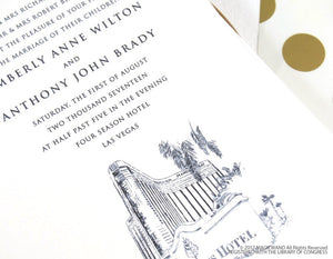 Four Seasons Hotel Las Vegas Wedding Invitation Package (Sold in Sets of 10 Invitations, RSVP Cards + Envelopes)