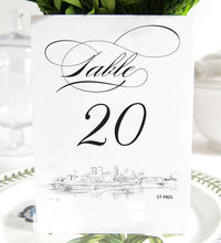 Load image into Gallery viewer, St Paul Skyline Table Numbers (1-10)