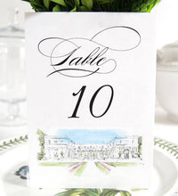 Load image into Gallery viewer, Rosecliff Manor Table Numbers, Rhode Island Wedding Tables (1-10)