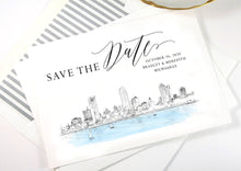 Load image into Gallery viewer, Milwaukee Save the Dates, Save the Date Cards, STD, Milwaukee Wedding, Wisconsin, Weddings (set of 25 cards and white envelopes)