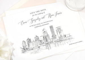 Louisville Skyline Save the Dates, Louisville Save the Date, Kentucky Wedding, Louisville Save the Date Cards, STD Weddings  (set of 25)