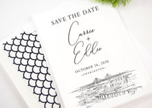 Load image into Gallery viewer, Charleston Save the Dates, Charleston Skyline, Charleston Wedding, STD, South Carolina Save the Date Cards, South Carolina (set of 25)