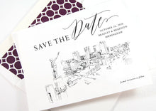 Load image into Gallery viewer, Birmingham Skyline Save the Dates, STD, Save the Date Cards, Birmingham Wedding, Alabama Skyline (set of 25 cards)