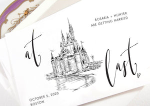 Disney World, Fairytale Wedding, Cinderella's Castle, Save the Dates, Orlando Wedding, STD,  Save the Date Cards (set of 25 cards)