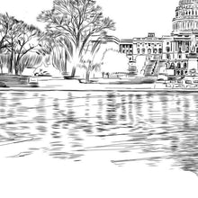 Load image into Gallery viewer, Washington D.C. Capital, Wedding, Alternative Guest Book, Washington DC, Wedding, Skyline, Wedding Guestbook, Party Supplies, Bridal Shower