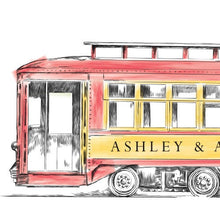 Load image into Gallery viewer, Trolley Car Rehearsal Dinner Invitations, Wedding, New Orleans Wedding, Rehearse Invite, Invitations (set of 25 cards)