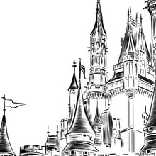 Load image into Gallery viewer, Disney World Castle Wedding, Alternative Guest Book, Fairytale Wedding, Skyline, Wedding Guestbook, Party Supplies, Bridal Shower