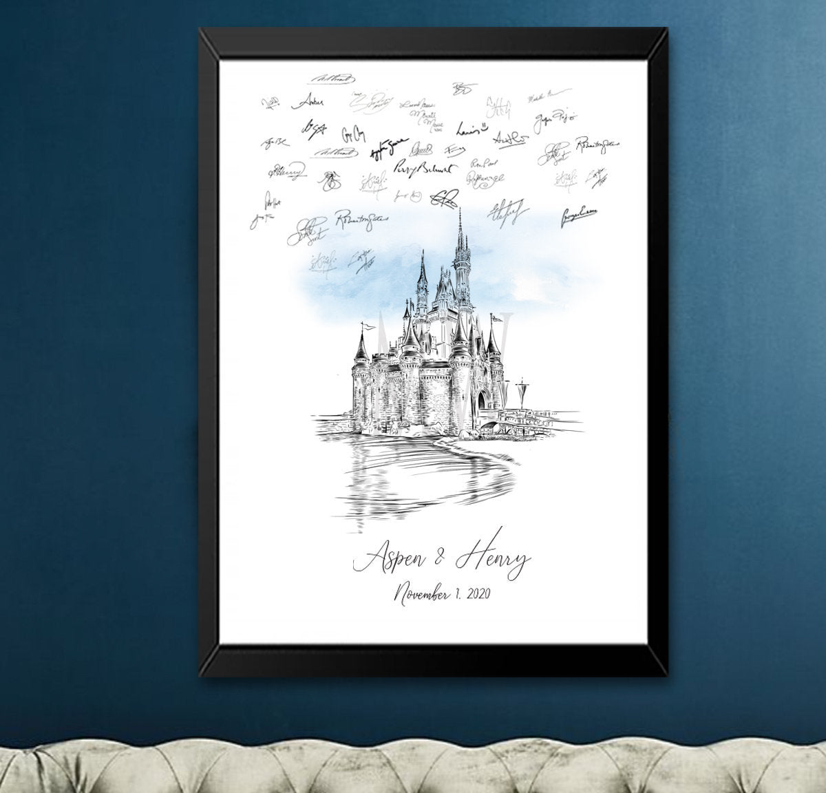 Disney World Castle Wedding, Alternative Guest Book, Fairytale Wedding, Skyline, Wedding Guestbook, Party Supplies, Bridal Shower