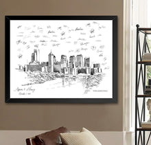 Load image into Gallery viewer, Philadelphia Wedding Alternative Guest Book, PA Wedding Skyline, Guestbook, Wedding Guestbook, Philadelphia, PA, Philadelphia Skyline